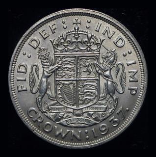 Великобритания крона 1937 серебро Коронационная Unc