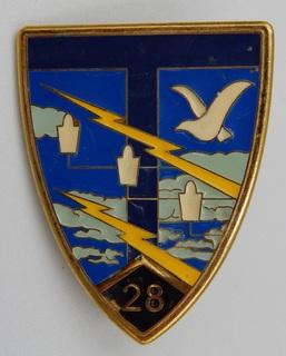 Франция. Полковой знак. 28-й полк связи.