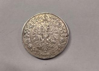 5 крон 1909р Австрія