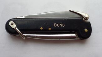 Складной морской нож  бундесвера .Jürgen Stamm (JS)./Германия.