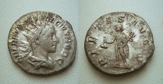 Геренний Этруск в ранге цезаря, антониниан