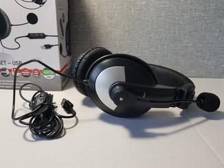 Наушники с микрофоном Speedlink THEBE USB SL8776 black Оригинал с Германии