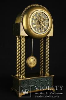 Старые интерьерные часы Hamburg-Amerikanische Uhrenfabrik (HAU). Германия (0311)