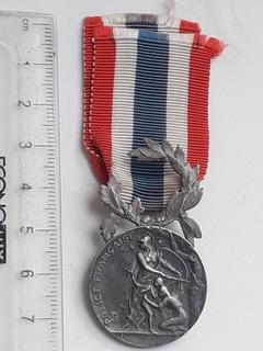 Почётная медаль Национальной полиции, Франция, серебро, ~13 грамм