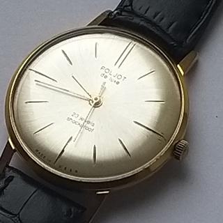 Часы Полет Poljot de luxe made in USSR.плоский. позолота Au20
