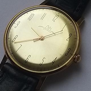 Часы Луч плоские 23камня.Позолота Au20