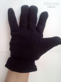 Перчатки утепленные спорт с липучкой черные
