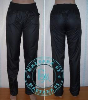 Зимние штаны на флисе очень тёплые размер М (46)