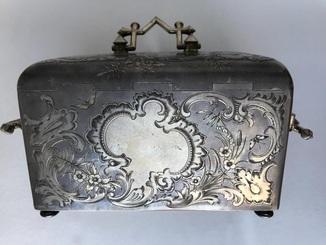 Шкатулка серебрянная с ключиком