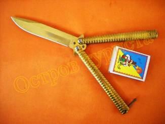 Нож-балисонг Gold F813 (нож-бабочка)