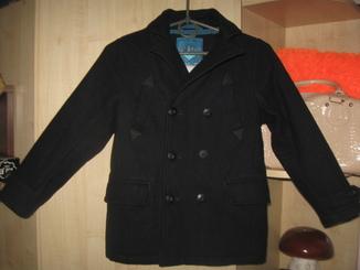 Шерстяне пальто на модніка на 7-9 рочків Next
