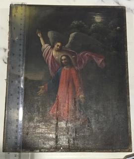 Икона Иисус в Гефсиманском саду, моление о чаше.