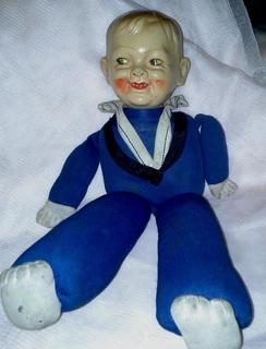 Антикварная кукла - Морячок