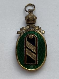 Жетон воен-врача. Окончивший Императорскую военно-медицинскую академию.