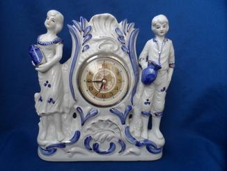 Часы интерьерные настольные каминные  Фарфор Германия