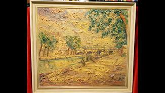 """""""Новый мост.Париж"""",Verner Trokner,40-50 гг."""