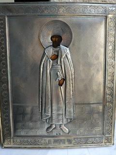 Икона Благоверного князя Михаила Тверского. Серебро 84