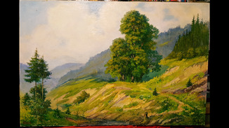 """Карпатский пейзаж"",120×80 см.,Руденко В.М.,х/м."