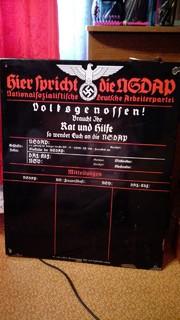 """Шильд """"Здесь говорит НСДАП"""". 1938 г."""