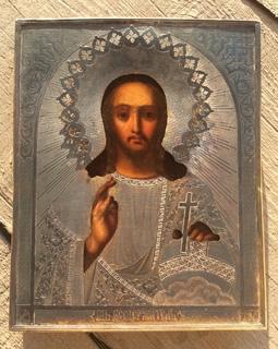 Икона Спаситель 84, позолота, все съемное