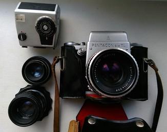 Фотоаппарат Pentacon Six TL, ГДР, + бонус: Helios 44-2, и23у.