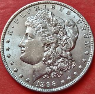 1 Доллар 1896 год. Морган. Серебро. AU
