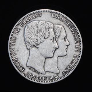 5 Франков 1853 Свадьба, Бельгия