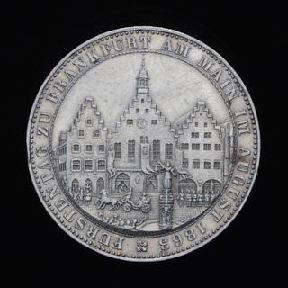 Талер 1863 Собрание князей, Вольный Город Франкфурт