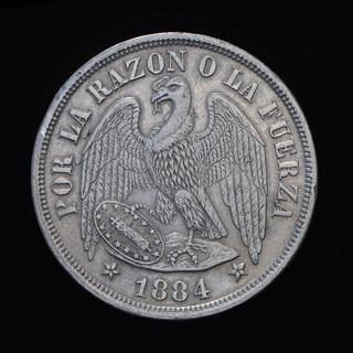1 Песо 1884 Кондор, Чили