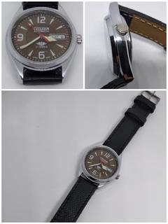 Часы механические Citizen с автоподзаводом и календарём.