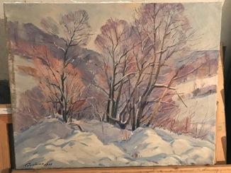 """Картина """" Зима"""", художник Сапатюк М.(член союза художников Закарпатья)."""