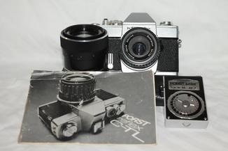 Фотоаппарат Porst reflex C-TL+ 2 объектива,экспонометр,кейс.