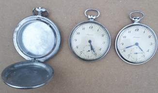 """Часы карманные ,, Молния """" + корпус со стеклом"""