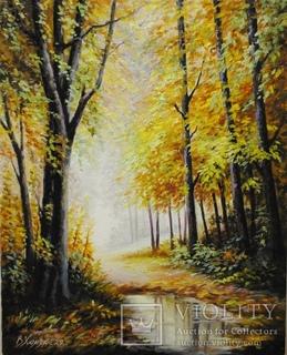 """""""Осінній ліс після дощу"""" 20 х 25 см. Хом'як В.І."""