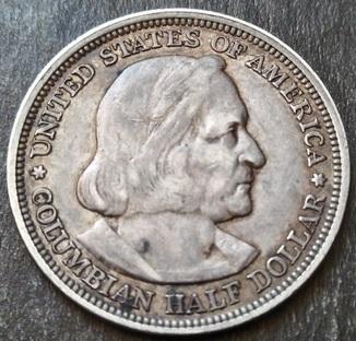 50 центов 1893 г. Колумб.