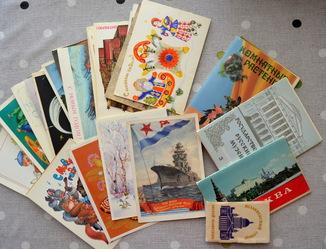 Чистые открытки 100штук