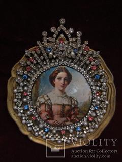 "Портретная миниатюра ""Беатрис"", Томас Дикси (1819-1895)"