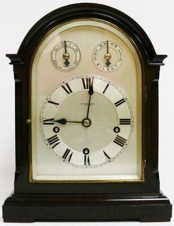 Старинные музыкальные настольные часы W & H