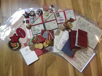Комплект на подполковника НКВД,СМЕРШ(документы,награды,письма и т.д