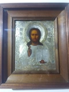 Икона «Господь Вседержитель» 1886 год, серебро