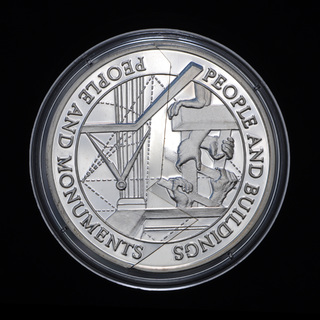 5 Долларов + 5 Тала 1997-2000 Люди и Здания / Монументы Монета Из Двух Частей