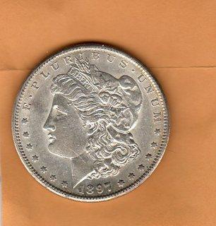 США 1 дол. 1897 S , Морган
