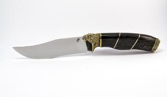 Эксклюзивный нож Кобра Х12МФ Мореный Дуб 800 лет