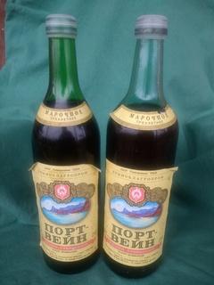 Вино марочне Портвейн білий Кримський 80ті роки Держагропром СРСР дві пляшки
