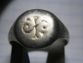 Перстень КР с володорскою тамгою 12 ст.