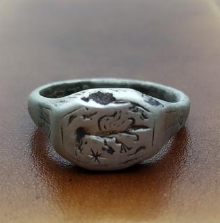 Перстень серебро 16-17 век