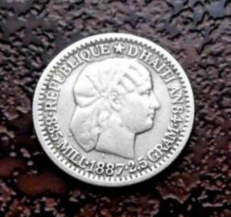 10 сантимов Гаити 1887 серебро