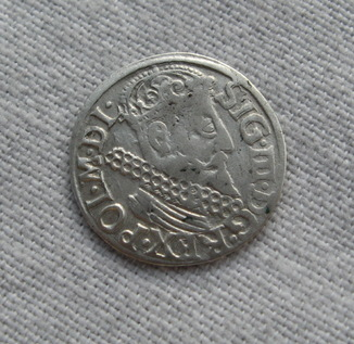 Трояк 1623 года. Сиг. ІІІ Ваза ( крупный шрифт ).