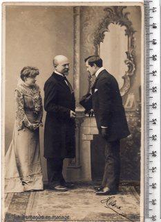 Старинная открытка. 1903 год. Фэнтези, пара мужчина женщина.