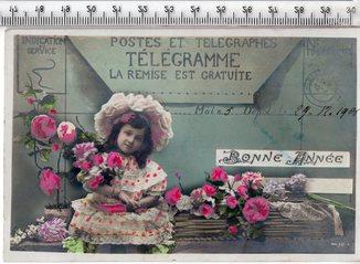 Старинная открытка. 1906 год. Фэнтези, дети.
